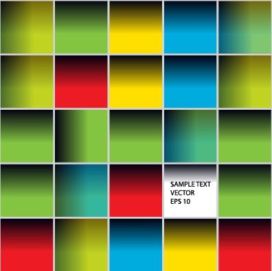Multicolor squares creative background vector set 01 free