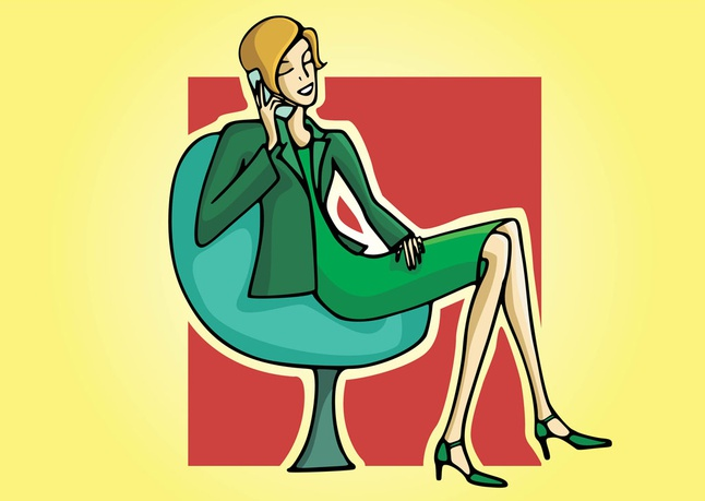 Secretary Vector Illustration free