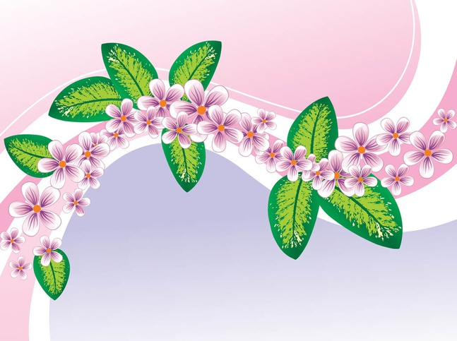 Spring Floral Background vector free