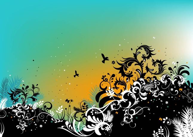 Summer Nature Vector Illustration free
