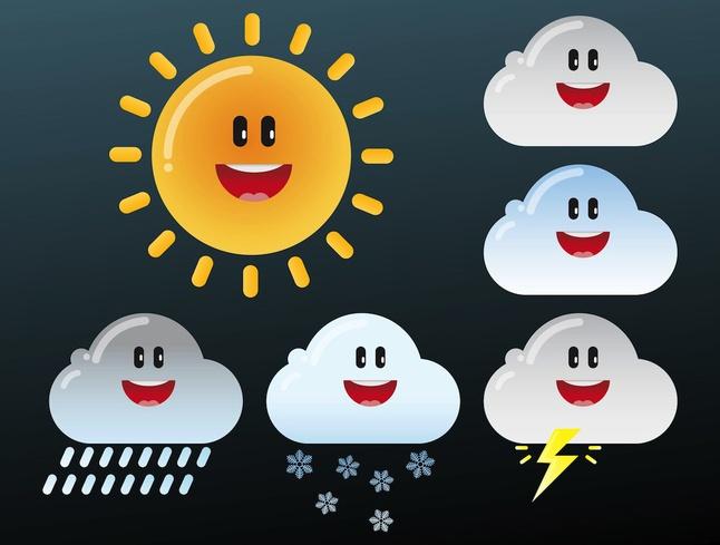 Weather Cartoons vector free