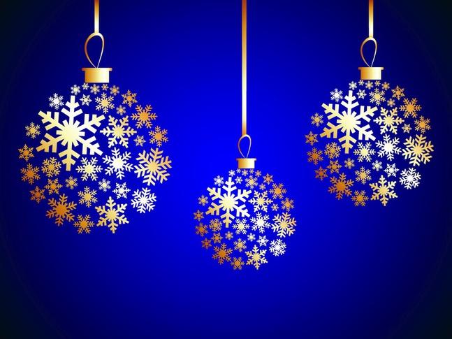 Winter Ornaments vector free