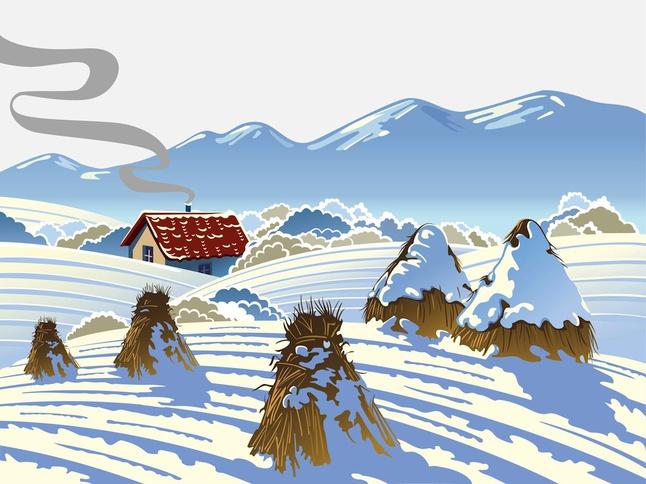 Winter Scenery vector free
