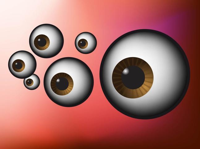 Eyeballs vector free