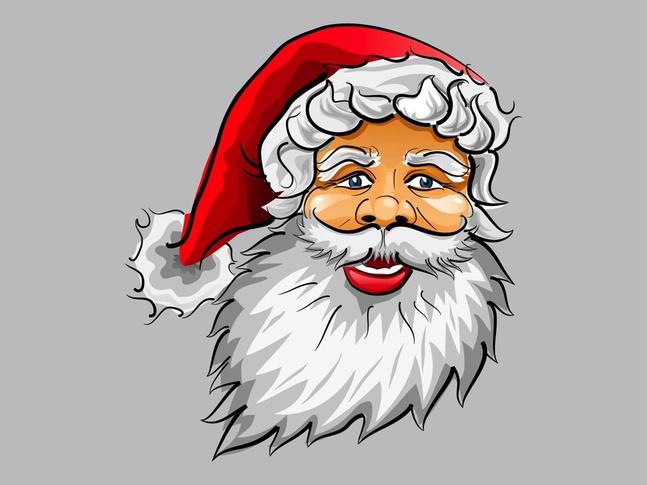 Happy Santa vector free