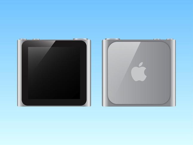 IPod Nano Silver vector free