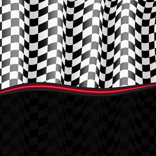 Black and white checkered background vector 05 free