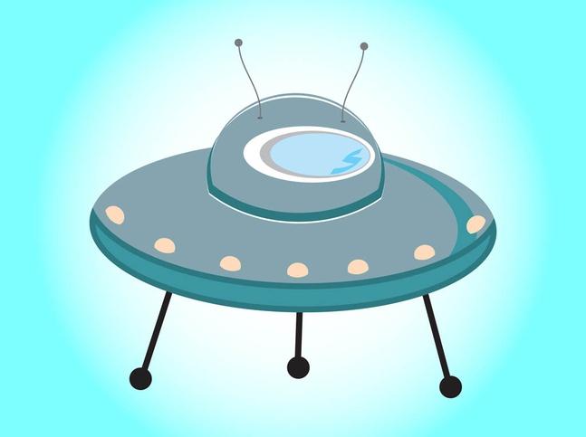 Cartoon Flying Saucer vector free