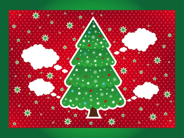 Christmas Layout vector free