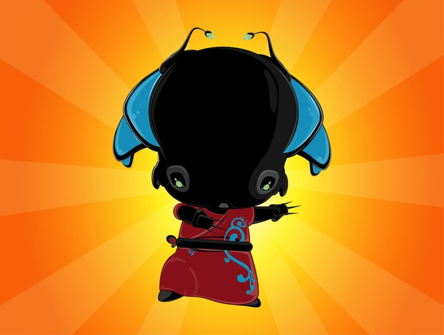 Cute Alien Character vector free