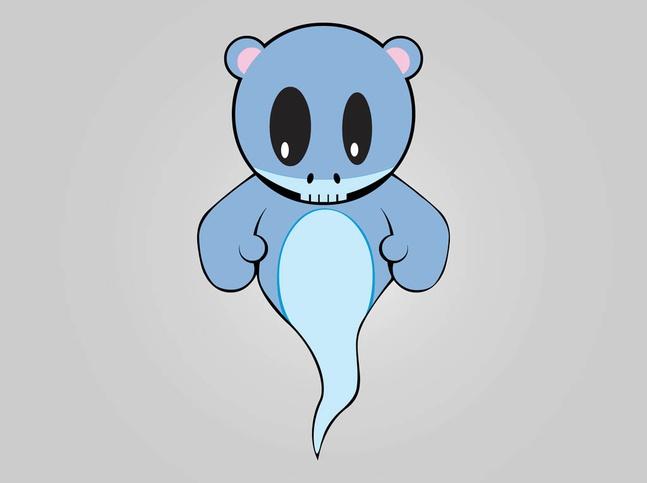 Cute Ghost vector free