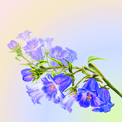 Hand drawn watercolor flower background 05 free