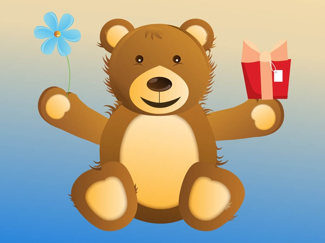 Happy Bear vector free