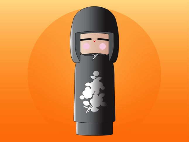 Kokeshi Doll vector free