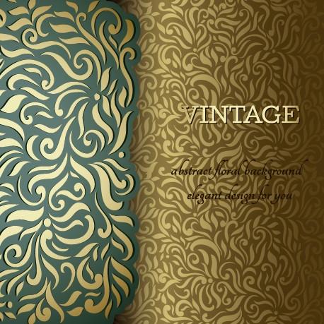 Ornate pattern vintage background graphics 02 free