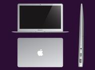 Apple Ultrabook vector free
