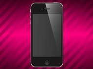 Shiny iPhone vector free