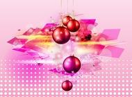 Shiny Christmas Balls vector free