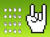 Cursor Hands vector free
