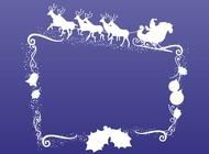 Christmas Frame vector free