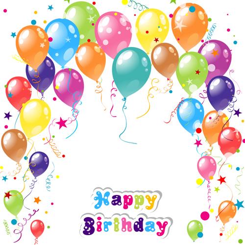 Balloon ribbon happy birthday background 04 free free - Happy birthday balloon images hd ...