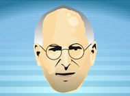 Steve Jobs Face vector free