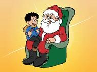 Santa And Kid vector free