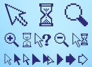 Pixelated Icons Set vector free