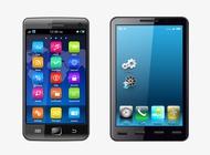 Realistic Smartphones Vector free
